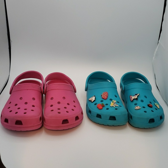 Two Pairs Of Crocs Size Womens 4 Junior